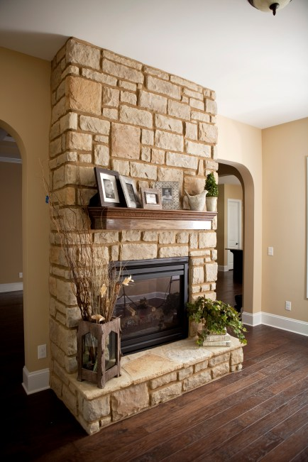 Updated Rock Fireplace