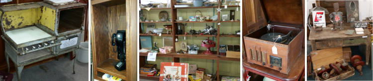 Sample of antique products.