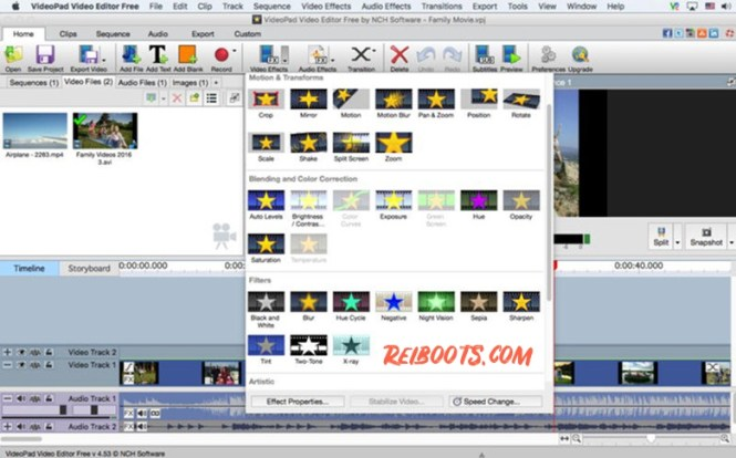 videopad video editor latest registration code
