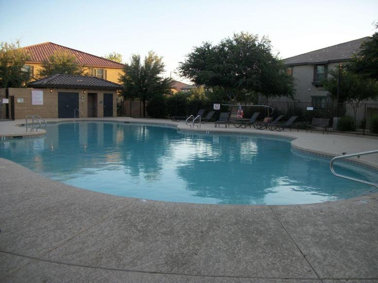 Non heated pool and 12 person hot tub