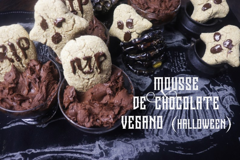 MOUSSE DE CHOCOLATE VEGANO (HALLOWEEN)