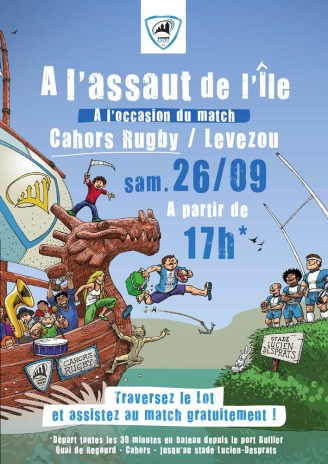 Illustration Cahors Rugby - l'affiche finale