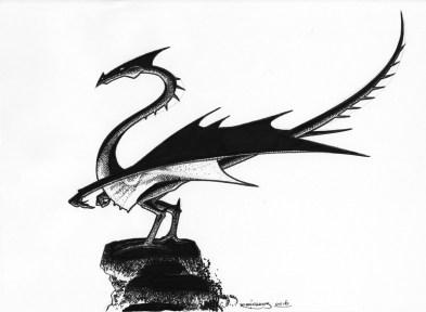 Dragon incendiaire : scan papier