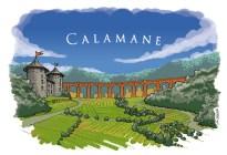 Calamane, son château, son viaduc.