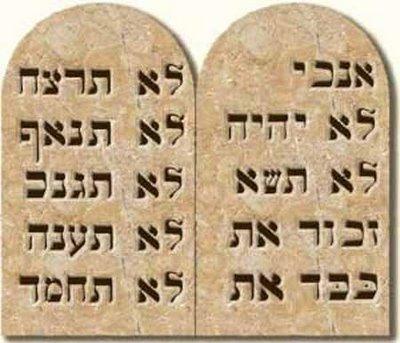tabua mandamentos