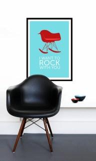 black rocking chair