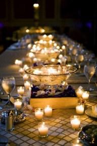 Every boho, lacy wedding needs candles!