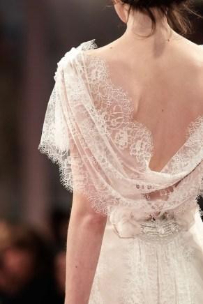 draped lace back