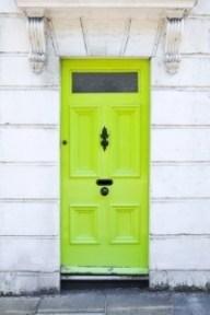 Bright doors are always a good idea.