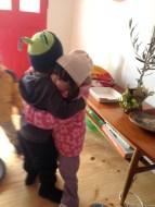 Besties cuddles to say goodbye
