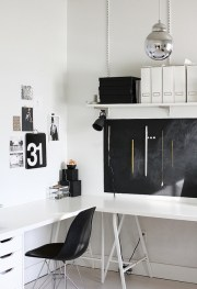 More wonderful storage solutions. All white so the decorations speak for themselves.