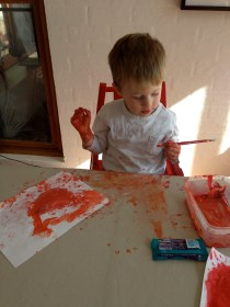 Painting fun (for him, not me)