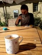 Wonderful cups of tea in the sun