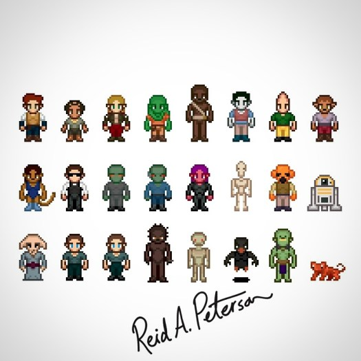 Game Sprite Character Design – Reid A  Peterson