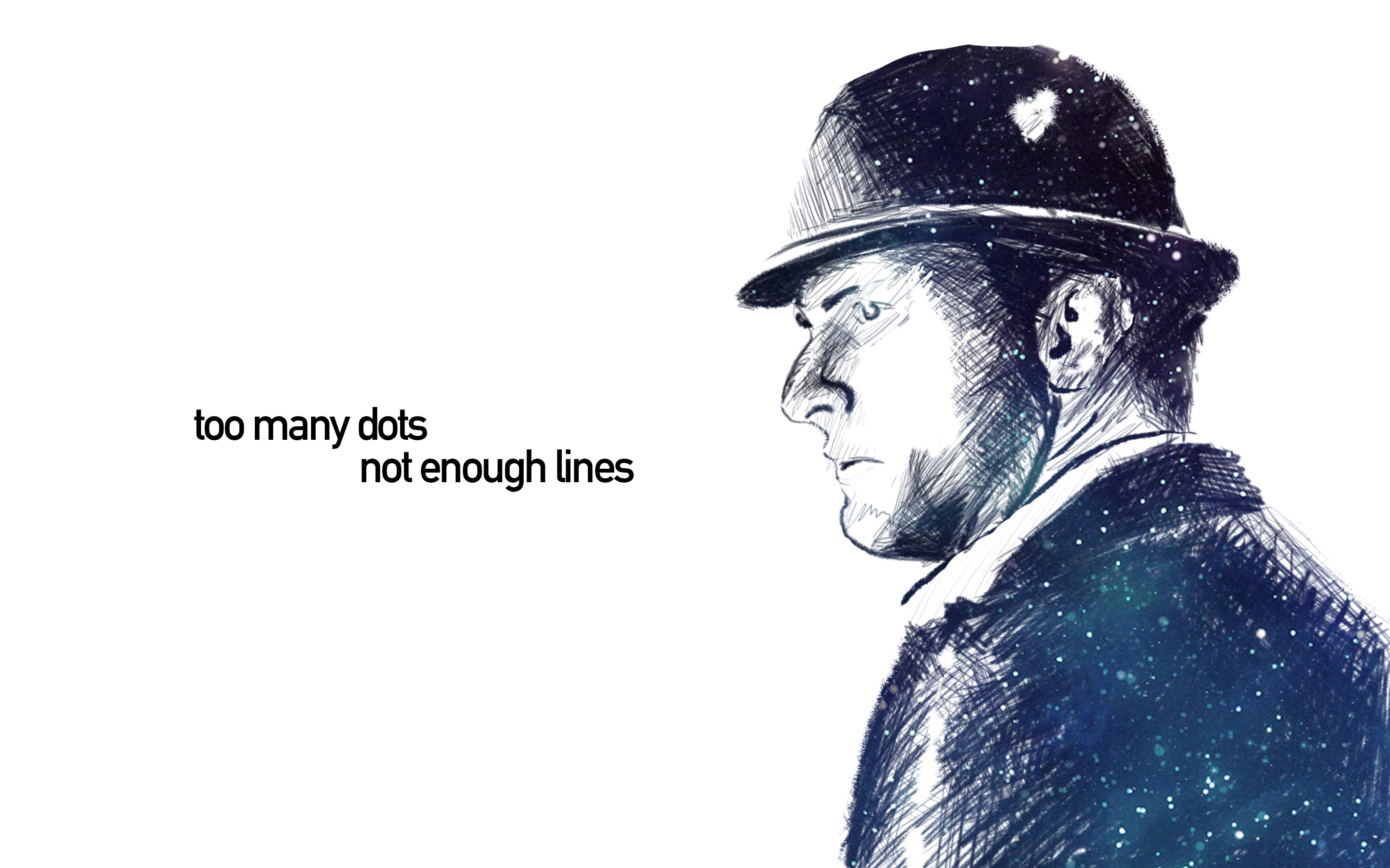 An illustration of Joe Miller from the TV series The Expanse, with the quote