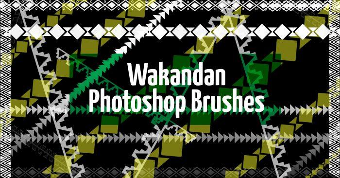 Wakandan Photoshop Brushes.