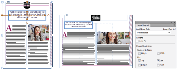 Moving from a portrait to a landscape layout. Indesign Cheats