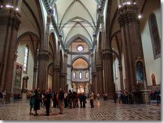 The Duomo  Cathedral  of Florence  Italy The nave of Florence s Duomo