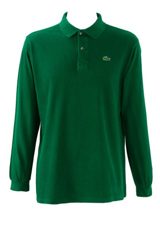 20d37c0040 Lacoste Dark Green Long Sleeved Polo Shirt – L