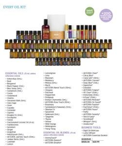 doterra every oil kit