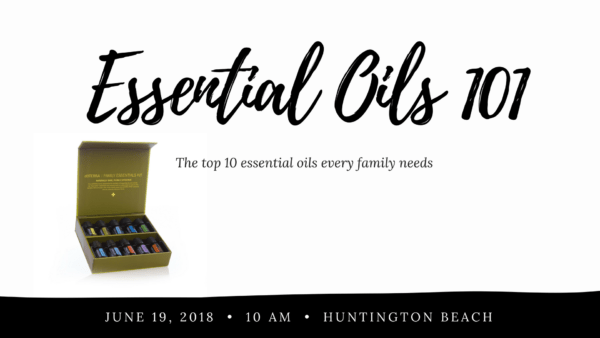 Essential Oils 101 class