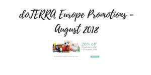 doTERRA Europe August Promotions