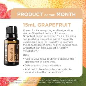 doterra product of the month January - grapefruit