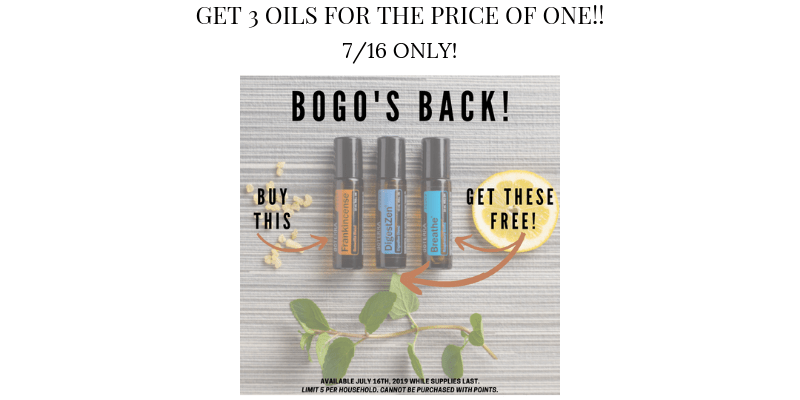 doterra BOGO offers - purchase 1 get 2 for free