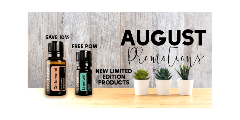 doTERRA August Promotions - 2019