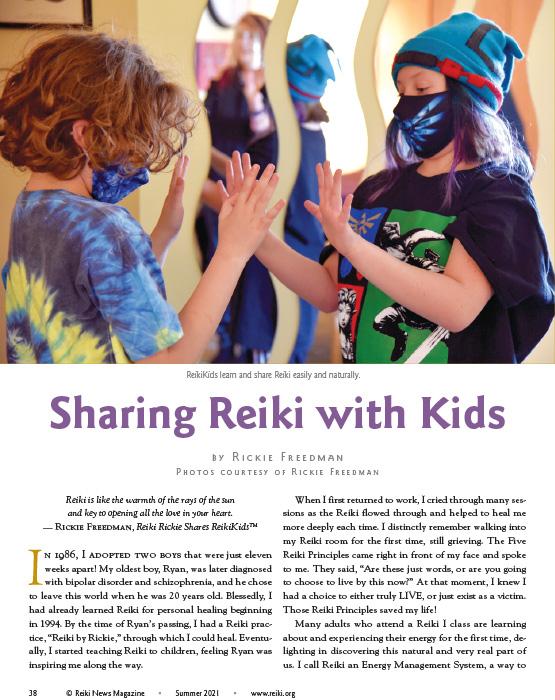 Sharing Reiki with Kids