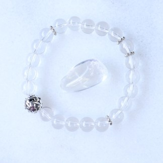 reiki charged clear quartz bracelet