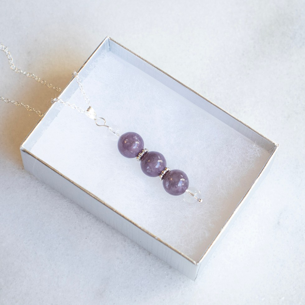 reiki charged lepidolite bead