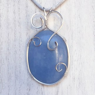 reiki charged angelite pendant