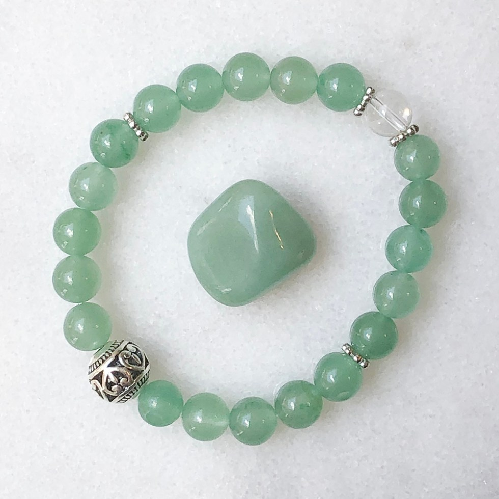 reiki charged green aventurine bracelet