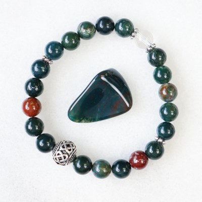 reiki charged bloodstone bracelet