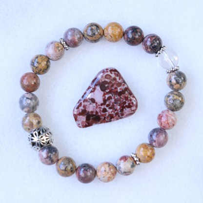 reiki charged leopardskin jasper