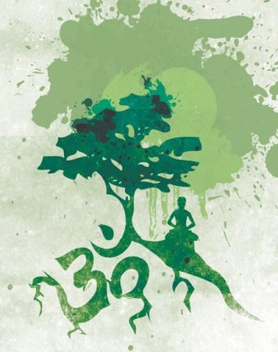 om tree meditator