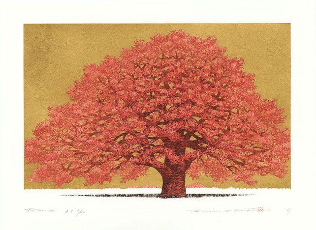 Hajime Namiki (1947 - ) Japanese Woodblock Print