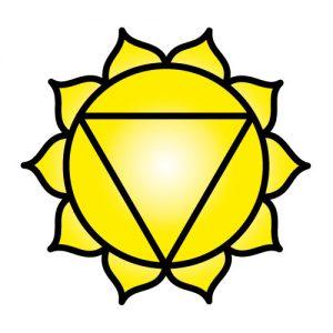 El símbolo de Chakra del plexo Solar