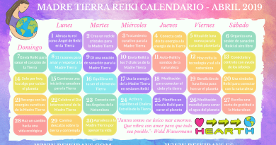 Madre Tierra Reiki Calendario Abril 2019