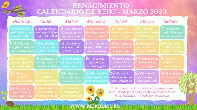 Renacimiento - Calendario de Reiki - Marzo 2020