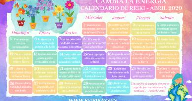 Cambia la energía - Calendario de Reiki - Abril 2020