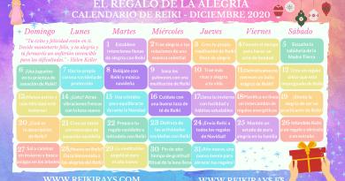 El Regalo de la Alegría - Calendario de Reiki - Diciembre 2020