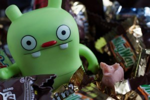 Gremlin in Halloween candy, Photo: CC image courtesy of Nomadic Lass on Flickr