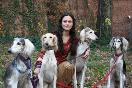 Cassandra Kraham And Saluki Family