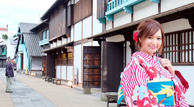 Nagasaki Diary #02 ใส่กิโมโนลายโมเดิร์น เดินเล่นเดะจิม่า จ.นางาซากิ 長崎で着物体験