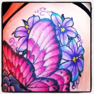タトゥー,ちょう,蝶,butterfly,花,flower,tattoo