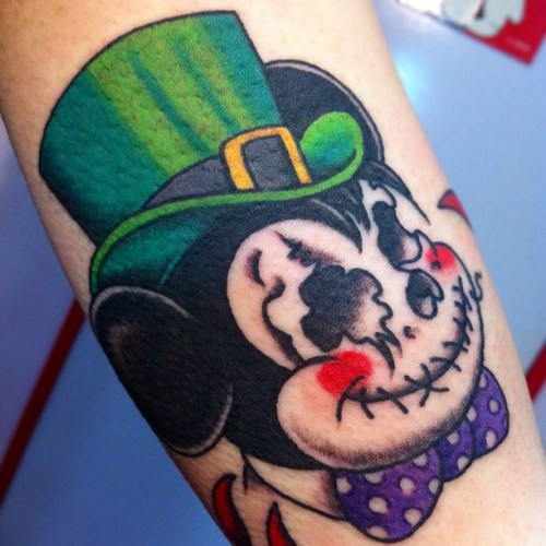 Skull, Mickey Mouse, Disney, tattoo, ドクロ, ミッキーマウス, タトゥー