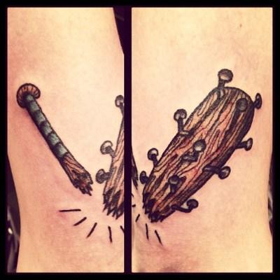 (๑ت๑)♡ #釘バット #SpikeRod #タトゥー #tattoo