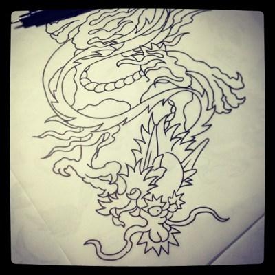 #龍 #dragon #classictattoo #tattoo #design #アメリカン#トラデイショナル #タトゥー #ドラゴン